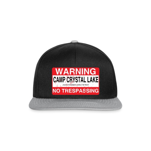 Camp Crystal Lake No Trespassing - Casquette snapback
