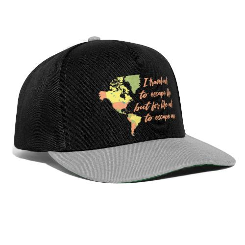 All in Life Traveling Map with Phrase - Snapback Cap