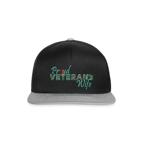 ProudVeteranWife-camo - Snapback Cap