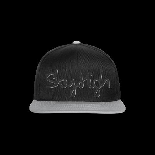 SkyHigh - Men's Premium Hoodie - Black Lettering - Snapback Cap