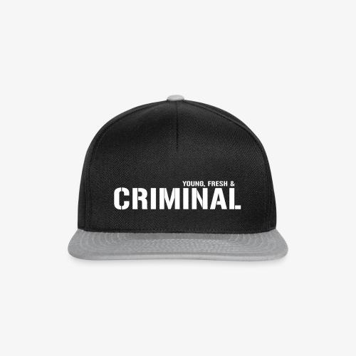 Y F CRIMINAL Logo White - Snapback Cap