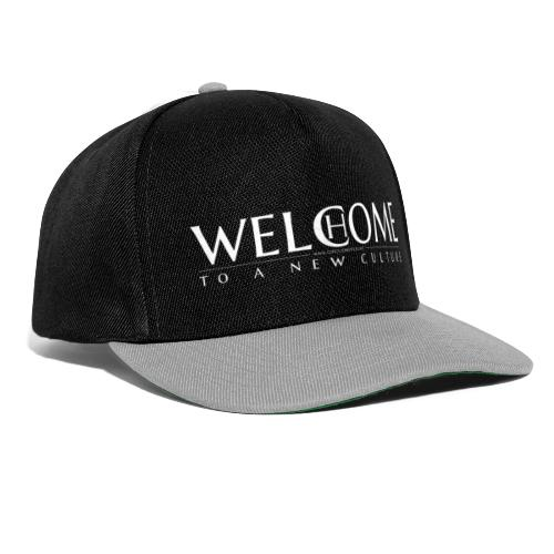 welcome home to a new culture w - Snapback Cap