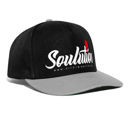 Soulution Logo – weiß - Snapback Cap