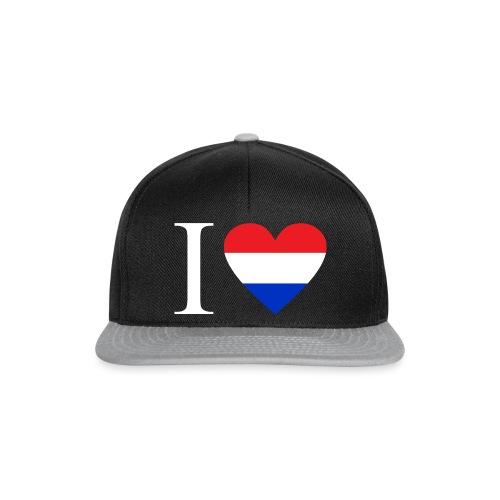 Ik hou van Nederland | Hart met rood wit blauw - Snapback cap