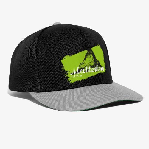 Matterhorn - Cervino en verde - Snapback Cap