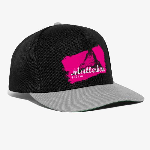 Matterhorn - Cervino en rosa - Snapback Cap