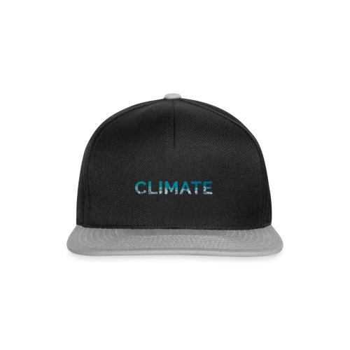 CLIMATE font water - Snapback Cap