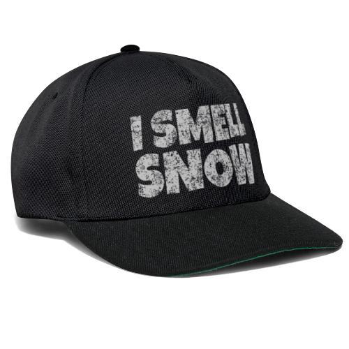 I Smell Snow (Grau) Schnee, Winter, Wintersport - Snapback Cap