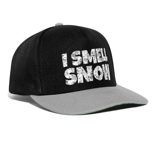 I Smell Snow Schnee, Weihnachten & Wintersport - Snapback Cap