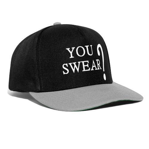 You swear? weiß - Snapback Cap