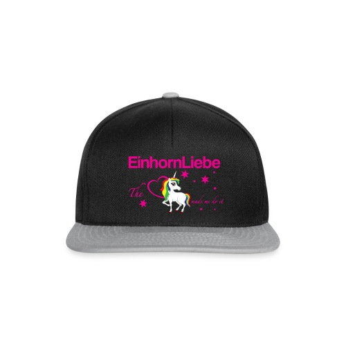 The-Unicorn_made_me_do_it_EInhornLiebe - Snapback Cap
