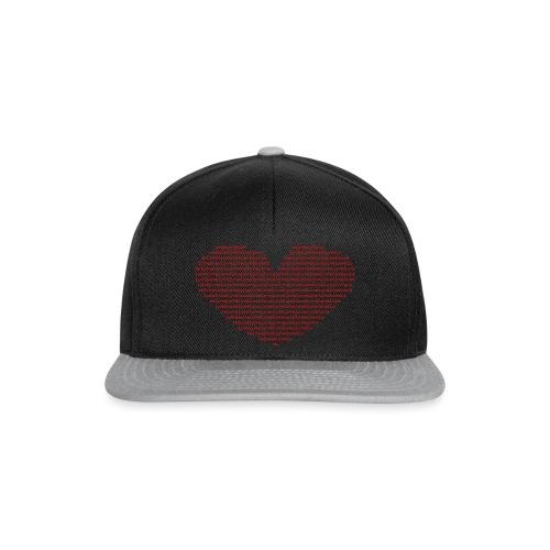 Isle of red Ascii Heart - Snapback Cap