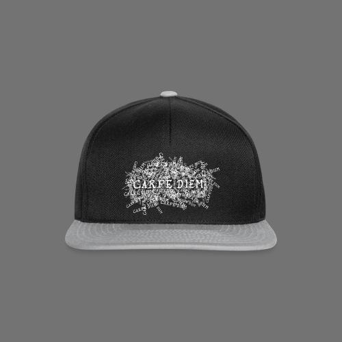 carpe diem (valkoinen) - Snapback Cap