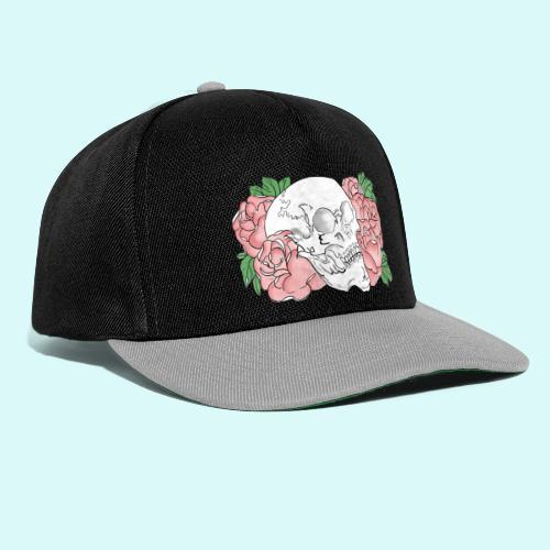 skull et fleurs - Casquette snapback