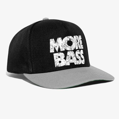 More Bass (Vintage/Weiß) Bassist Bassisten - Snapback Cap