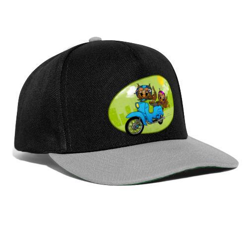 Eulen mit Moped - grün - Snapback Cap