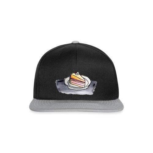 Kuchenstück, Aquarell - Snapback Cap