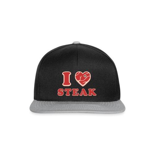 I love steak - Steak in Herzform Grillshirt - Barc - Snapback Cap