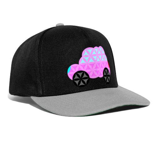 The Car Of Life - 01, Sacred Shapes, Pink. - Snapback Cap