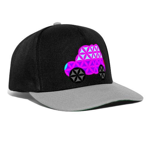 The Car Of Life - 01, Sacred Shapes, Purple. - Snapback Cap