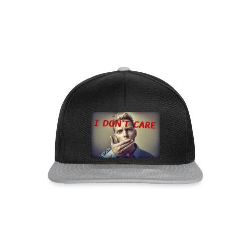 I don't care shirt - Snapback Cap