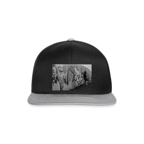 Real - Black and White graffiti bridge - Snapback Cap