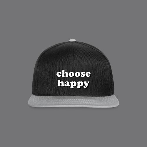 CHOOSE HAPPY Tee Shirts - Snapback Cap
