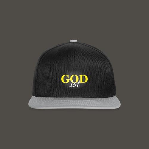 God 1 st V09 D191029FMi Schriftzug weis - Snapback Cap