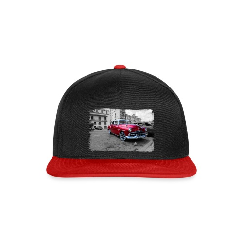 shiny red car - Snapback Cap