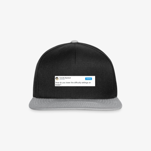 Tinder is too difficult - Snapback Cap