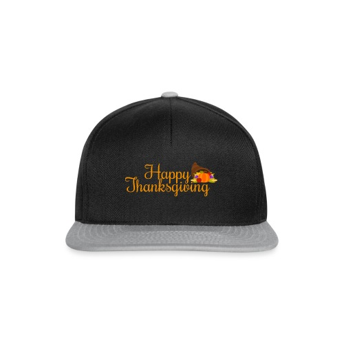 Happy Thanksgiving Words - Snapback Cap