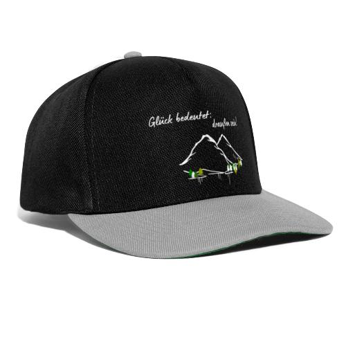 Glueck bedeutet draussen sein - Snapback Cap