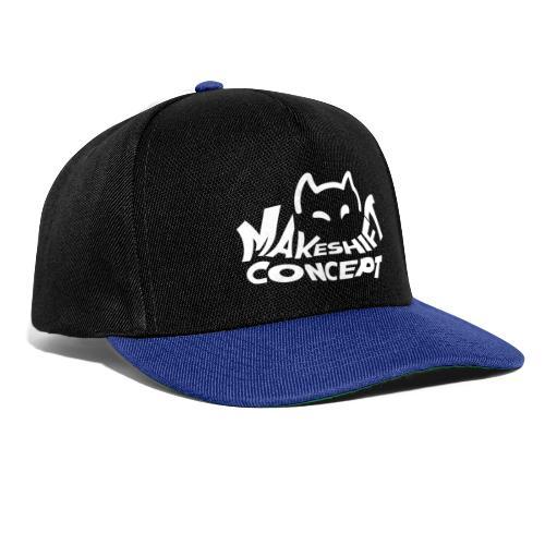 Makeshift Concept Cat Logo Weiß - Snapback Cap