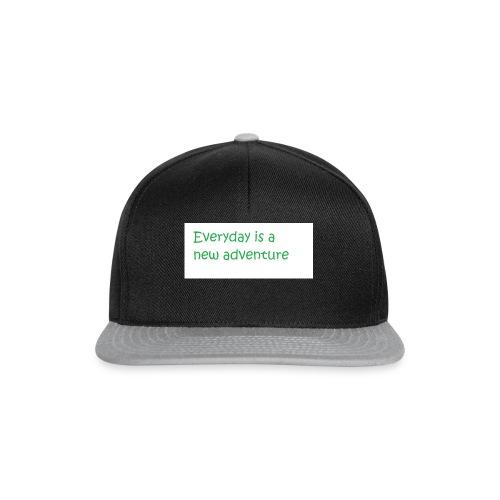 Everyday is A new adventure inspirational logo - Snapback Cap