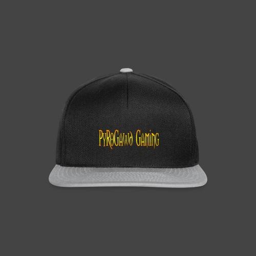 PyroGawd Logo Text - Snapback Cap