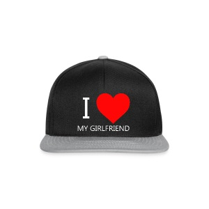 I LOVE MY GIRLFRIEND T-SHIRT - Snapback Cap