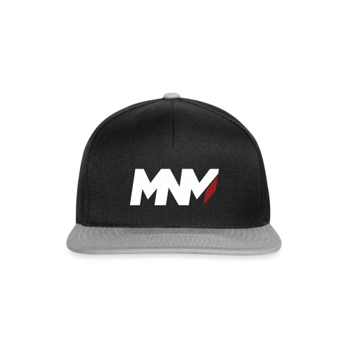 MNM With RED WHITE Corner - Snapback Cap