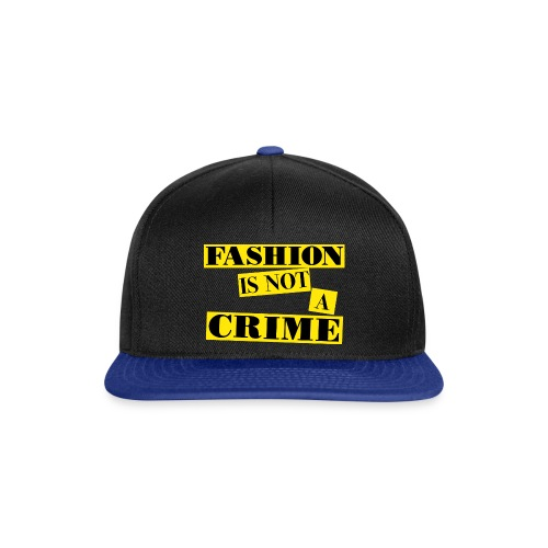FASHION IS NOT A CRIME - Snapback Cap