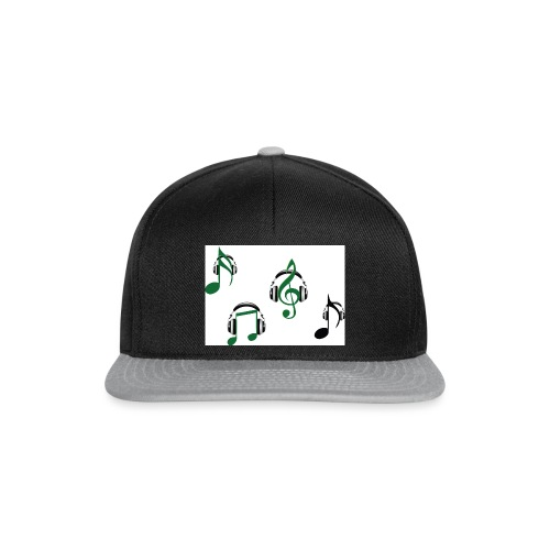 musical notes with instruments - Snapback Cap