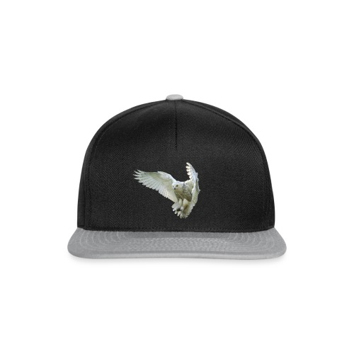 Majestic Snowy Owl in flight - Casquette snapback