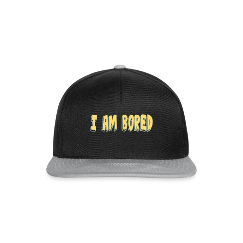 I AM BORED T-SHIRT - Snapback Cap