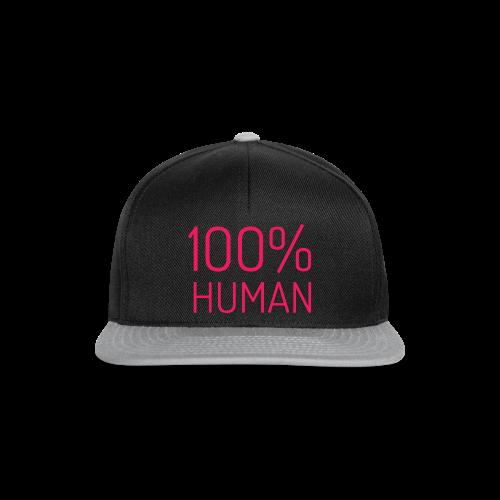 100% Human in roze - Snapback cap