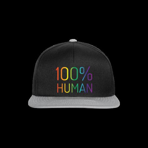 100% Human in regenboog kleuren - Snapback cap