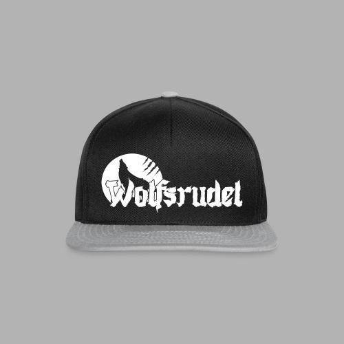 Logo Wolfsrudel Weiß - Snapback Cap