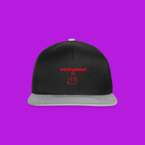 tailgating_red - Snapback Cap