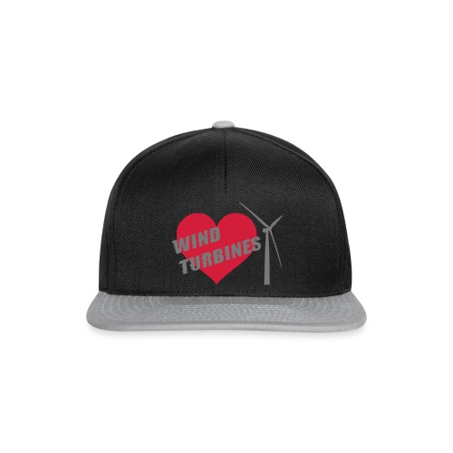 wind turbine grey - Snapback Cap