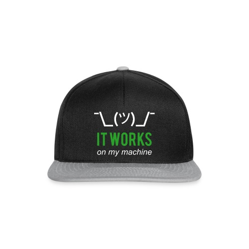 It works on my machine Funny Developer Design - Snapback Cap