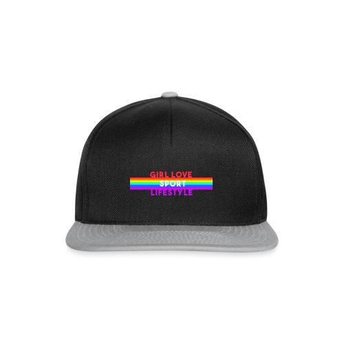 girl love sport life style rainbow - Casquette snapback