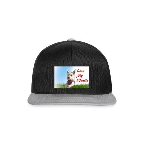 Love my westie - Snapback Cap