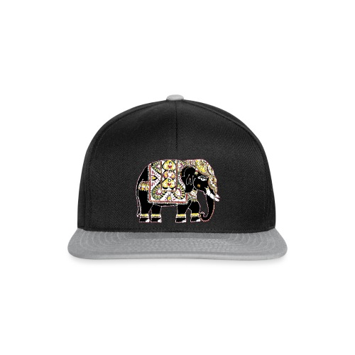 Indian elephant for luck - Snapback Cap